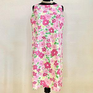LIZ CLAIBORNE SPORT FLORAL DRESS PETITE SIZE 10P
